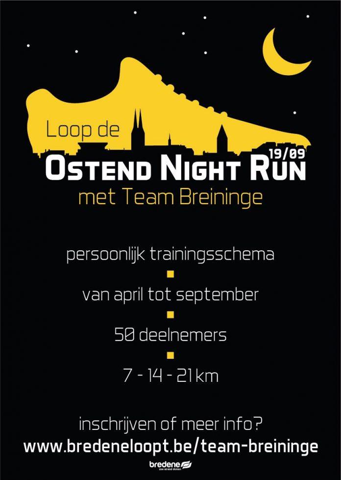 affiche Ostend Night Run