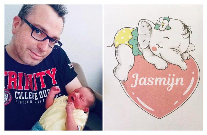 Randy Vanderputte en zijn dochtertje