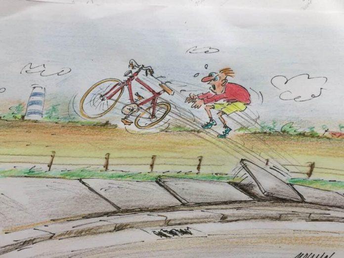 Cartoon werken Polderstraat