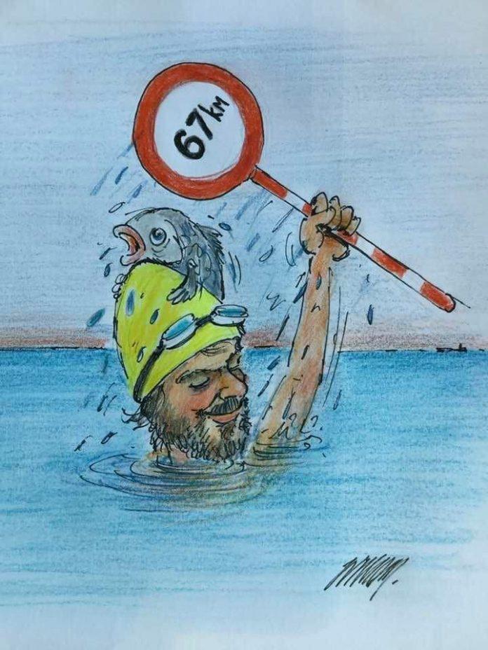 Cartoon over Matthieu Bonne