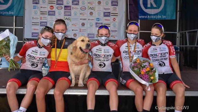 Julie Hendrickx is Belgisch Kampioene wielrennen bij de jeugd