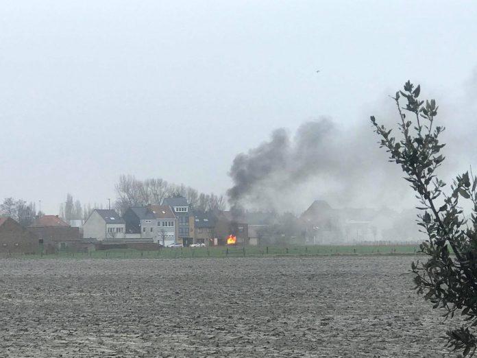 wagen brandt uit