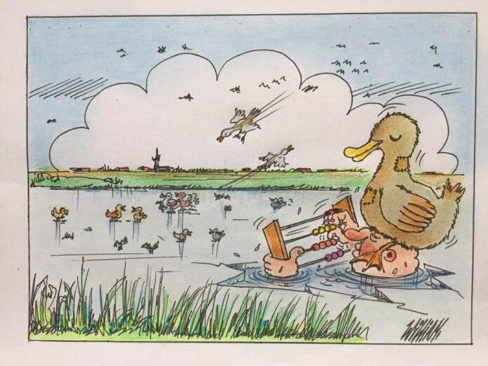 Cartoon vogeltelweekend