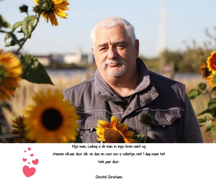 Mijn man, Ludwig Boey, is de man in mijn leven want wij steunen elkaar door dik en dun en voor ons is valentijn niet 1 dag maar het hele jaar door. Christel Christiaen